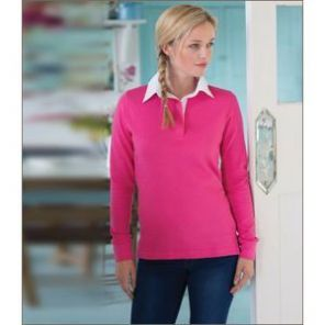 FR101 Front Row Ladies Classic Rugby Shirt